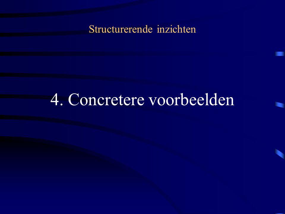 Structurerende inzichten 4. Concretere voorbeelden