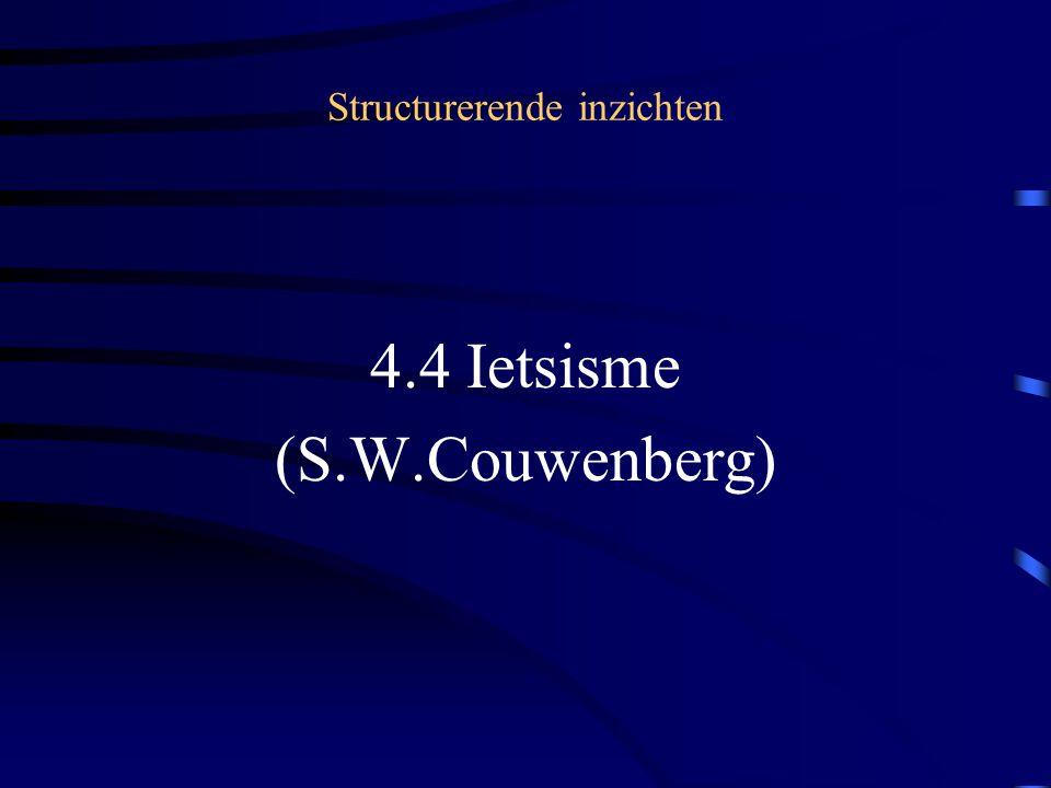Structurerende inzichten 4.4 Ietsisme (S.W.Couwenberg)
