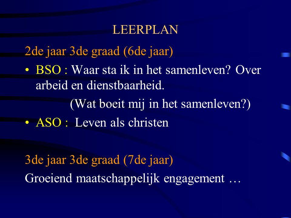 LEERPLAN 2de jaar 3de graad (6de jaar) BSO : Waar sta ik in het samenleven.
