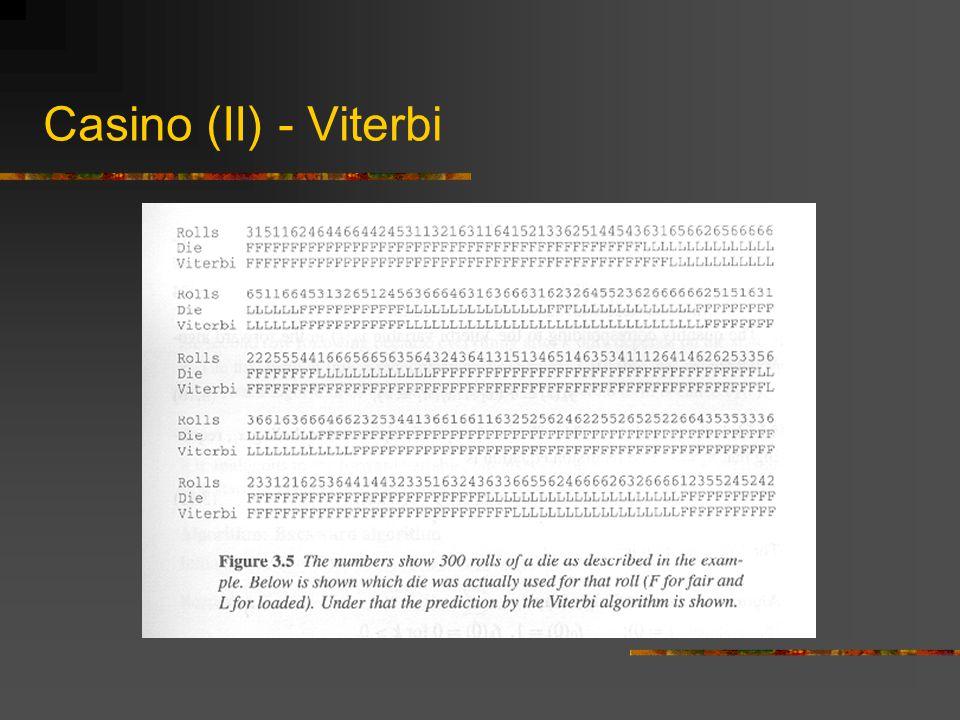 Casino (II) - Viterbi