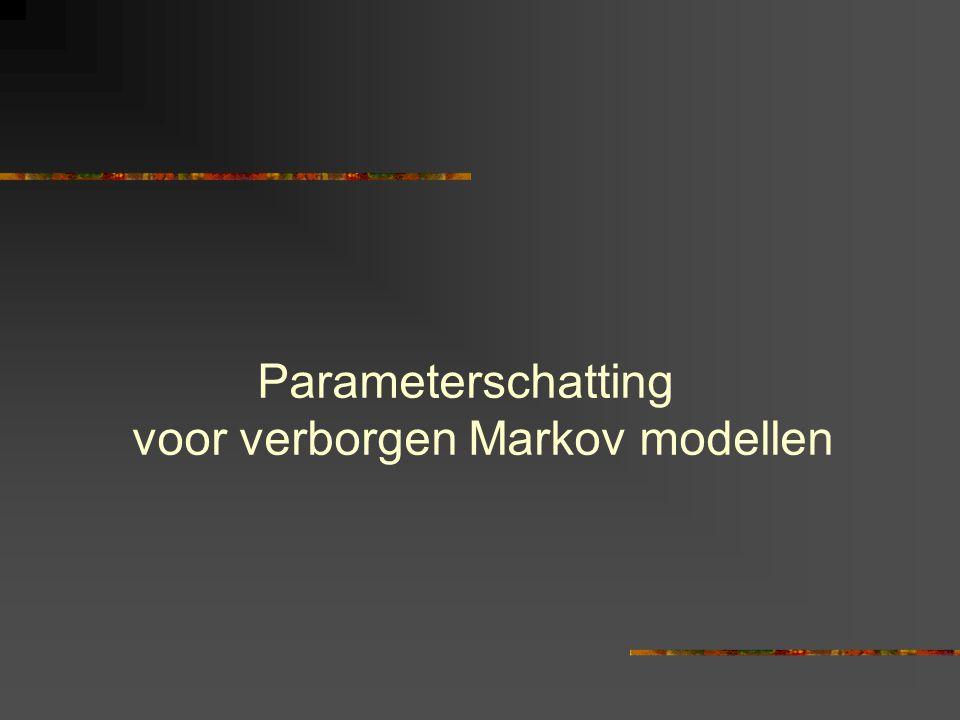 Parameterschatting voor verborgen Markov modellen