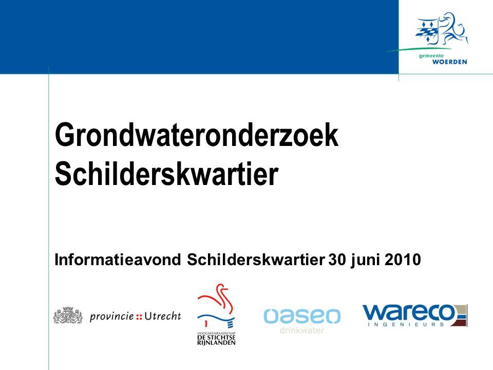 Grondwateronderzoek Schilderskwartier Informatieavond Schilderskwartier 30 juni 2010