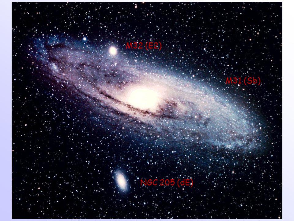 M31 (Sb) M32 (E2) NGC 205 (dE)
