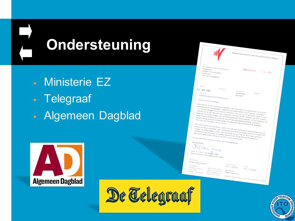 Ondersteuning  Ministerie EZ  Telegraaf  Algemeen Dagblad