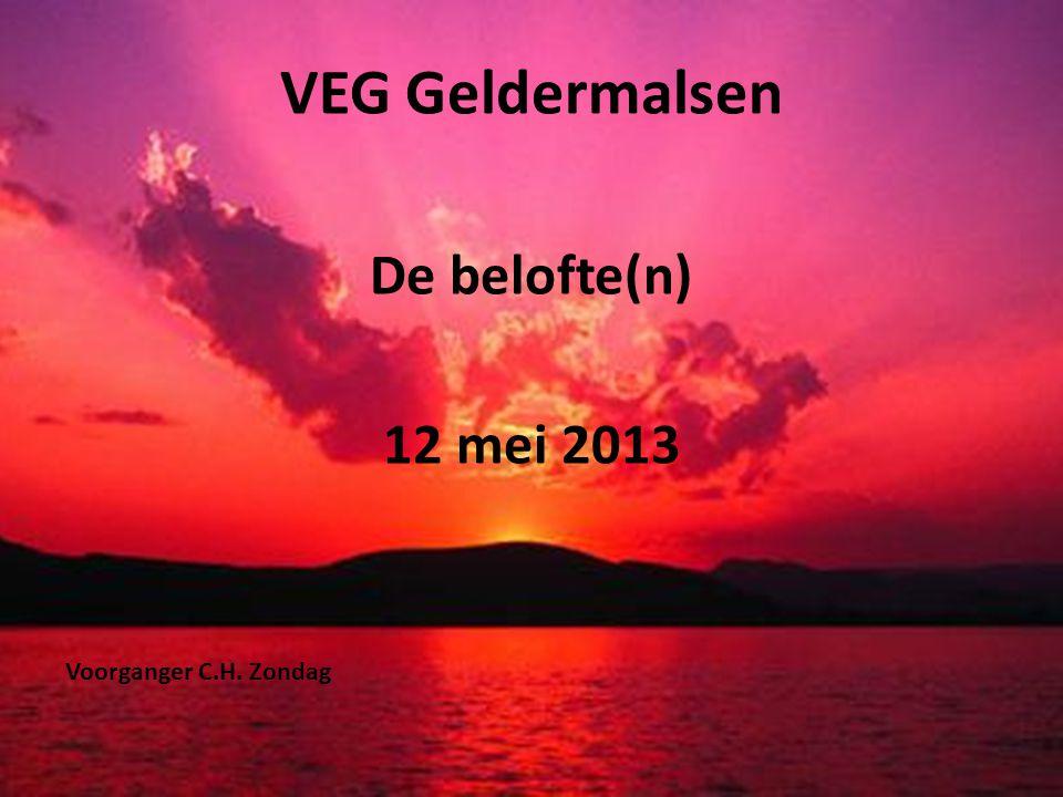 VEG Geldermalsen De belofte(n) 12 mei 2013 Voorganger C.H. Zondag