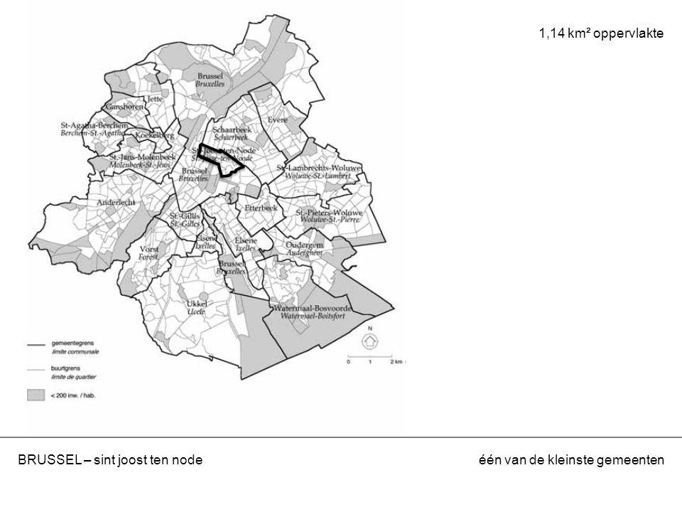 BRUSSEL – sint joost ten nodeéén van de kleinste gemeenten 1,14 km² oppervlakte