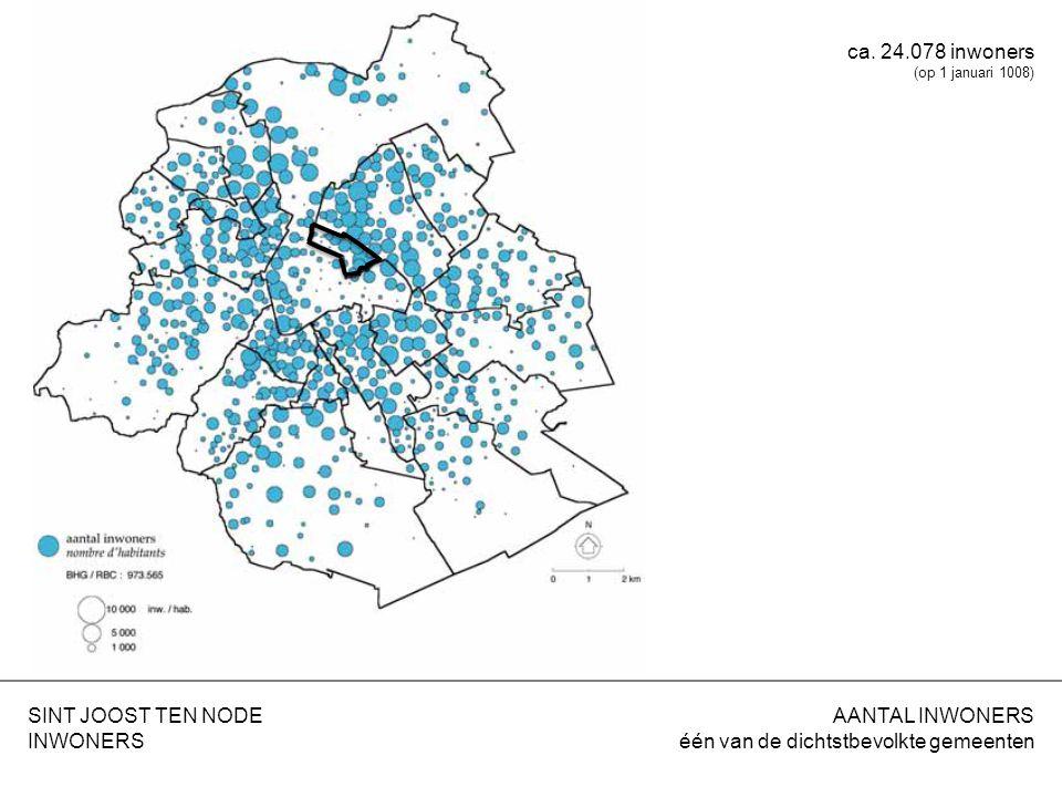 BEVOLKINGSDICHTHEID hoog aantal inwoners per ha SINT JOOST TEN NODE INWONERS 21.079 inwoners/km²
