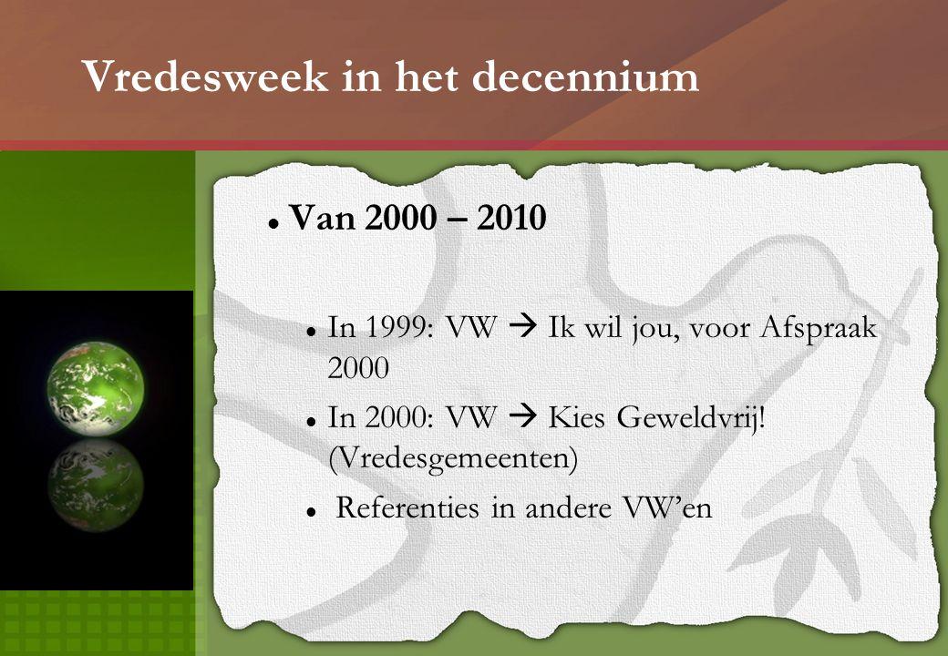 Vredesweek 2010 – Vredesgemeenten Word Vredesgemeente.
