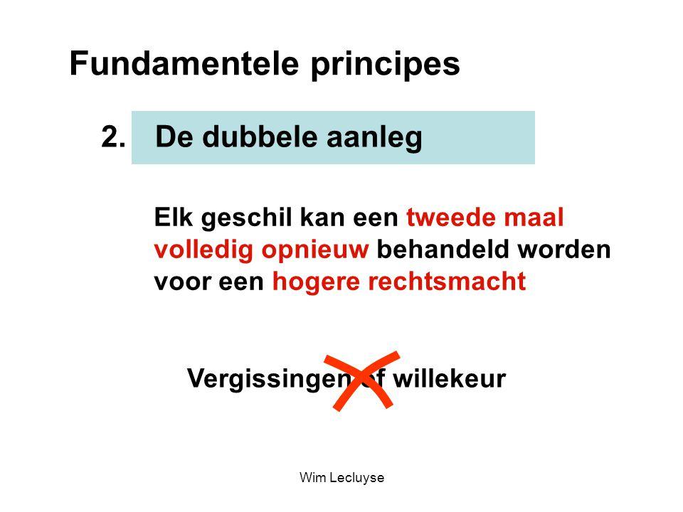 Fundamentele principes De dubbele aanleg2. Elk geschil kan een tweede maal volledig opnieuw behandeld worden voor een hogere rechtsmacht Vergissingen
