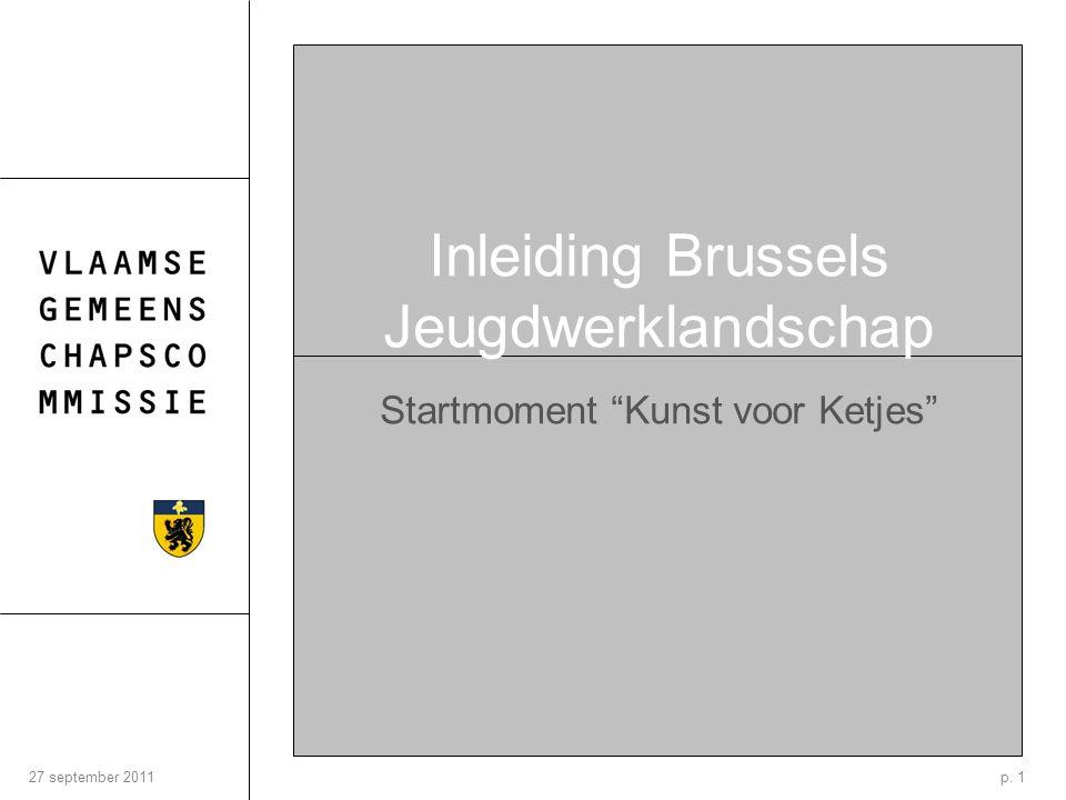 p. 127 september 2011 Inleiding Brussels Jeugdwerklandschap Startmoment Kunst voor Ketjes