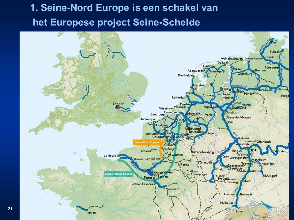 21 1. Seine-Nord Europe is een schakel van het Europese project Seine-Schelde