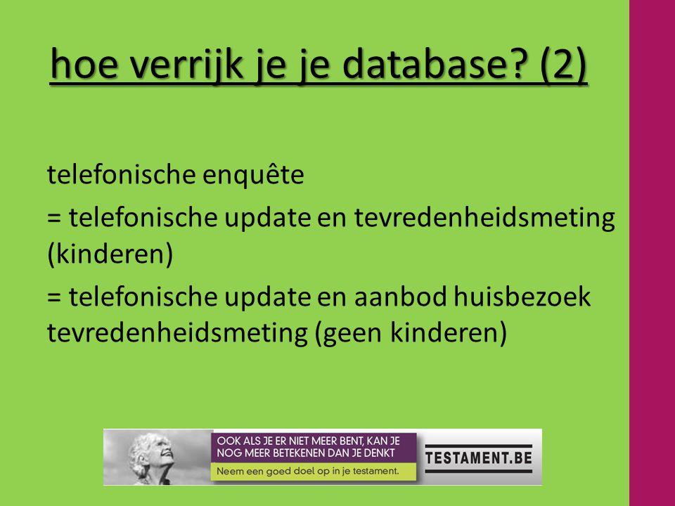 hoe verrijk je je database.