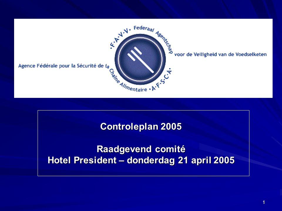 32 2005: Aantal monsters/controles
