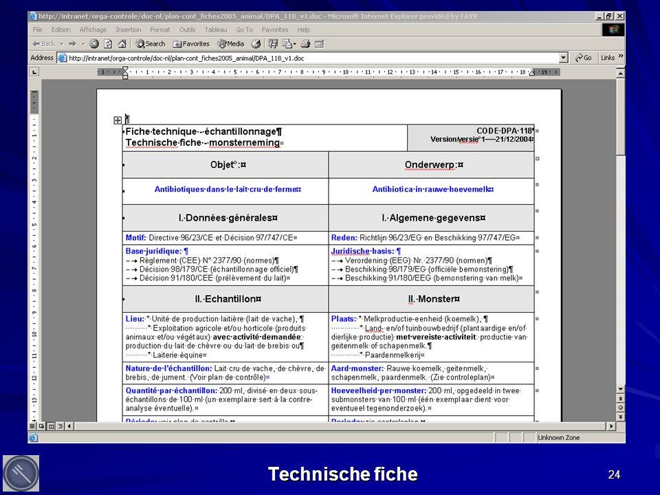 24 Technische fiche