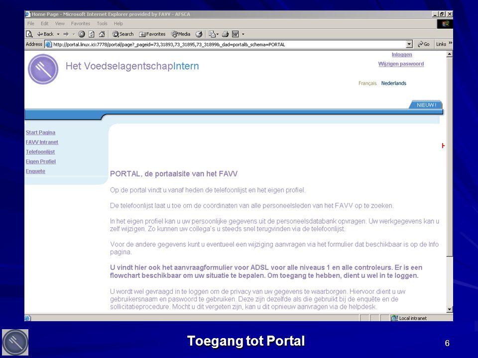 7 Beveiligde verbinding met Portal
