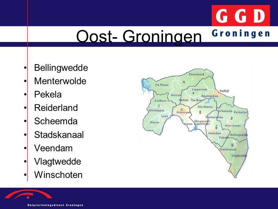 Oost- Groningen Bellingwedde Menterwolde Pekela Reiderland Scheemda Stadskanaal Veendam Vlagtwedde Winschoten