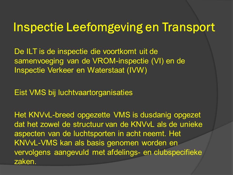 Inspectie Leefomgeving en Transport De ILT is de inspectie die voortkomt uit de samenvoeging van de VROM-inspectie (VI) en de Inspectie Verkeer en Wat