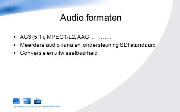 AC3 (5.1), MPEG1/L2, AAC, ………..