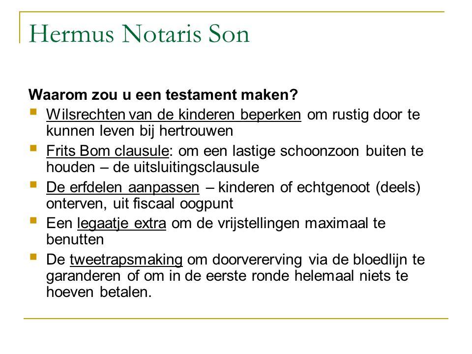 Hermus Notaris Son Waarom zou u een testament maken?  Wilsrechten van de kinderen beperken om rustig door te kunnen leven bij hertrouwen  Frits Bom