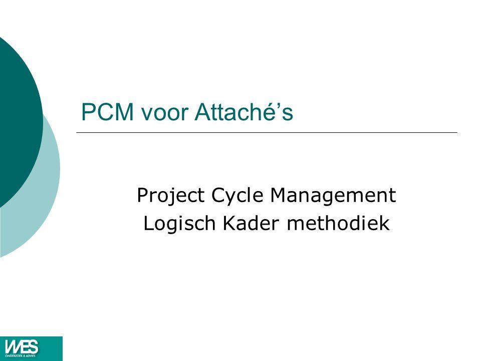 PCM voor Attaché's Project Cycle Management Logisch Kader methodiek