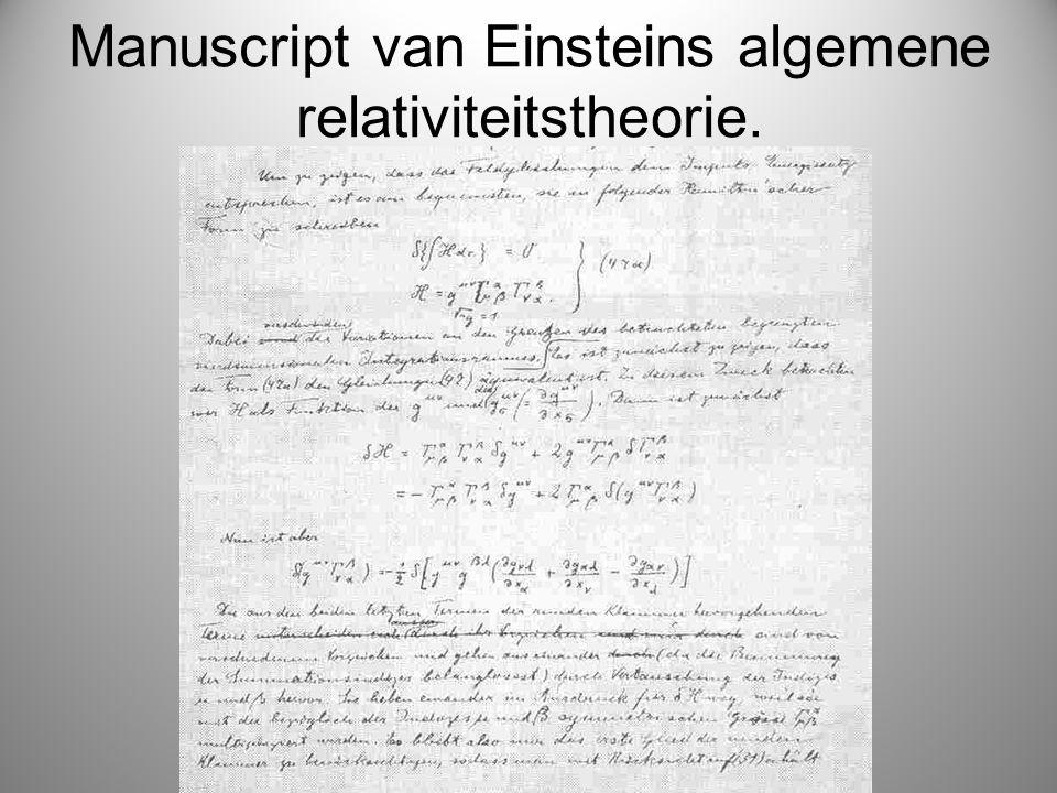 Manuscript van Einsteins algemene relativiteitstheorie.