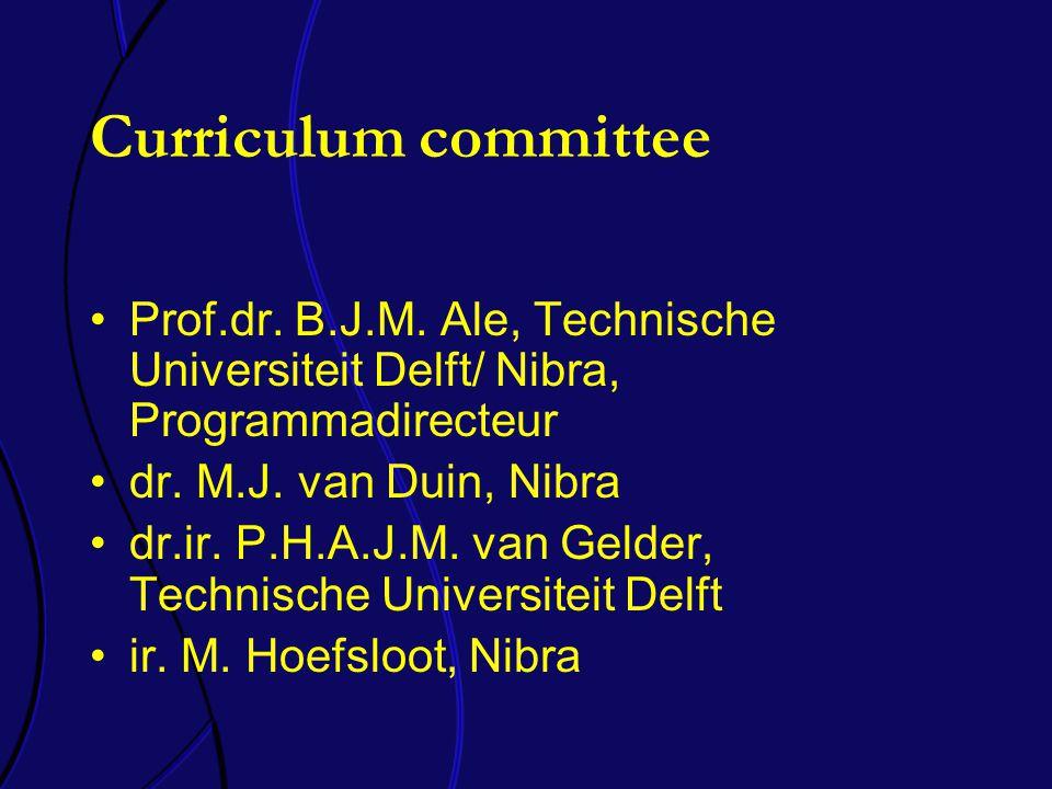 Curriculum committee Prof.dr. B.J.M.