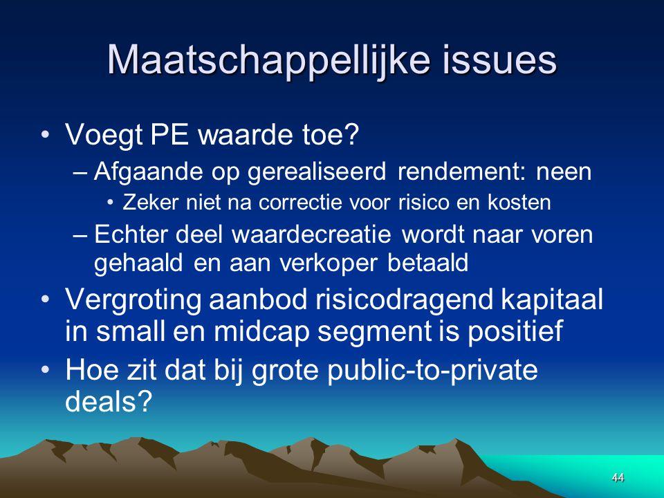 44 Maatschappellijke issues Voegt PE waarde toe.