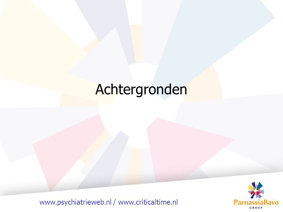 www.psychiatrieweb.nl / www.criticaltime.nl Beperkingen van CTI Meer servicemodel dan behandelmodel (kapstok voor methodieken) De achterdeur (sociale kaart) Uitval / vastlopen
