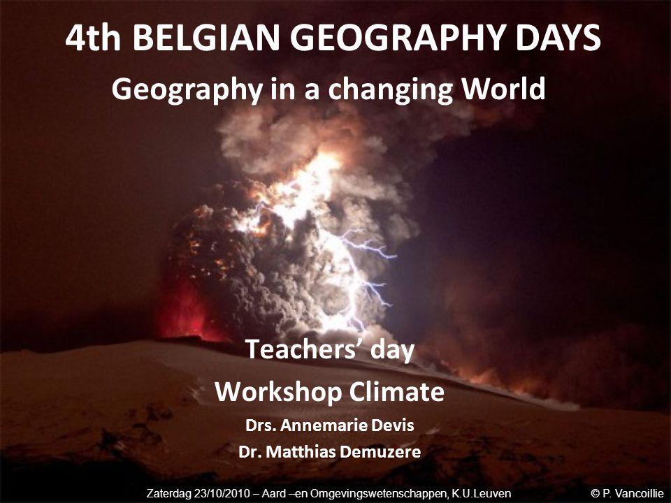 Teachers' day Workshop Climate Drs. Annemarie Devis Dr.