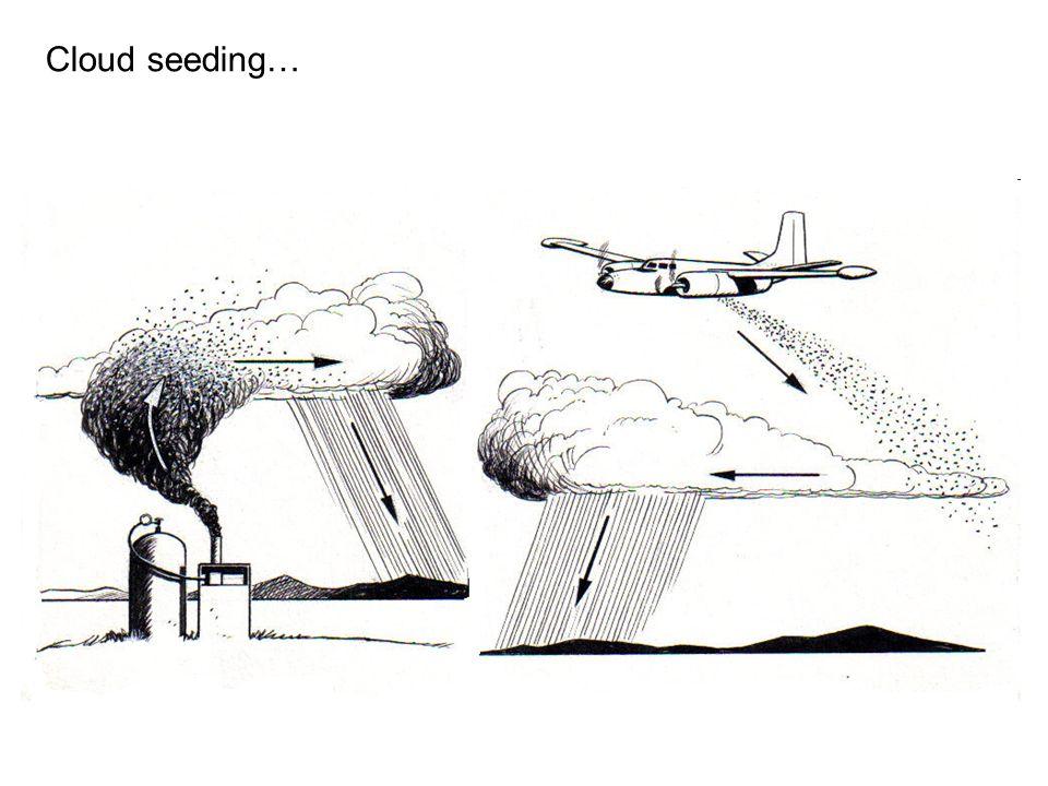 Cloud seeding…