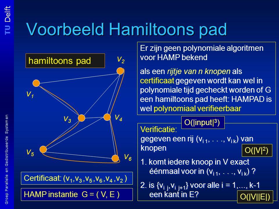 TU Delft Groep Parallelle en Gedistribueerde Systemen Verificatie: gegeven een rij (v i 1,..., v i k ) van knopen 1.
