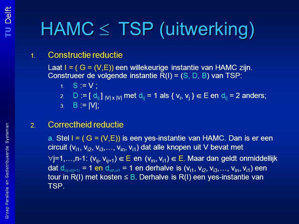 TU Delft Groep Parallelle en Gedistribueerde Systemen HAMC  TSP (uitwerking) 1.