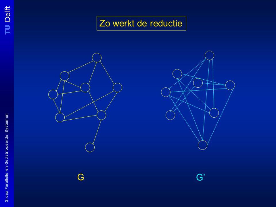 TU Delft Groep Parallelle en Gedistribueerde Systemen G G' Zo werkt de reductie