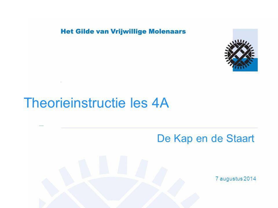 7 augustus 2014 Theorieinstructie les 4A De Kap en de Staart
