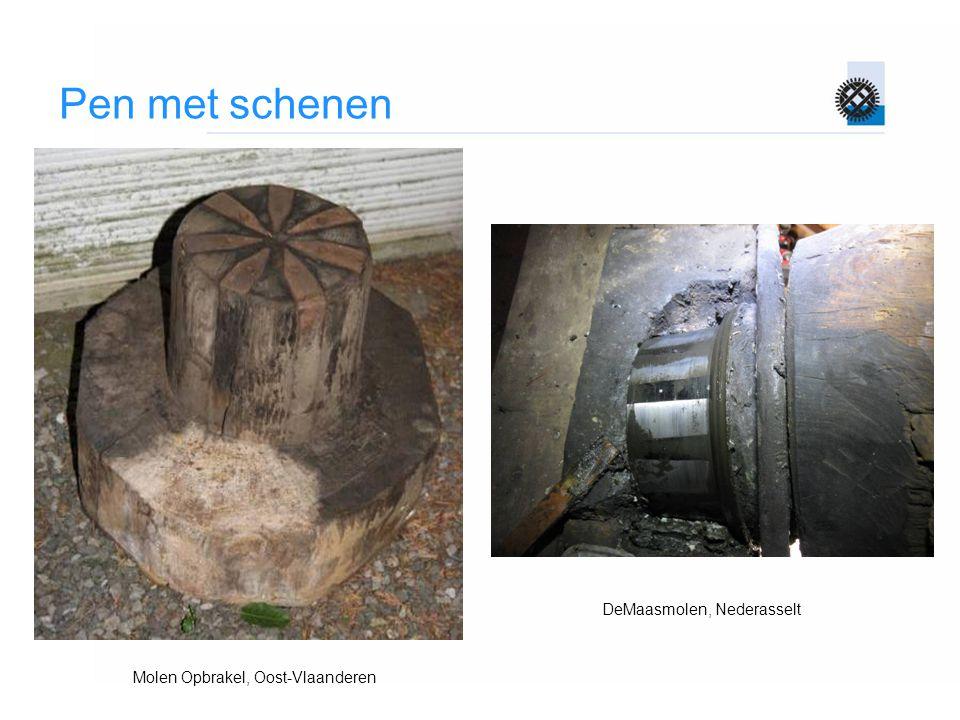 Pen met schenen Molen Opbrakel, Oost-Vlaanderen DeMaasmolen, Nederasselt