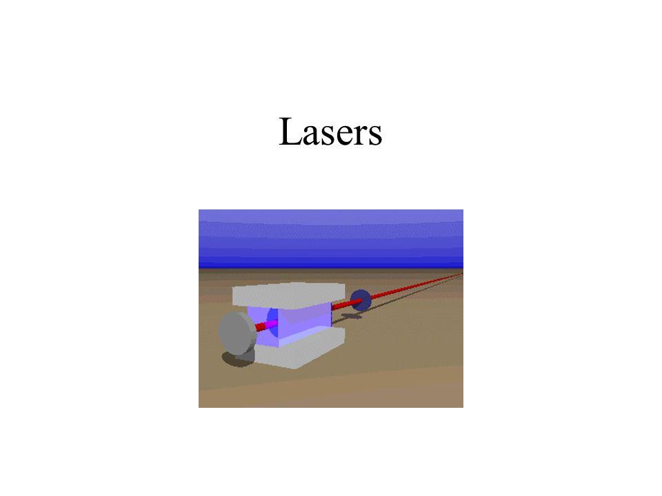 1960: Eerste werkende (Robijn) laser: Th.Maiman 1916: Versterking van licht m.b.v.