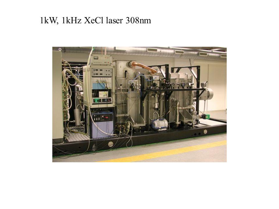 1kW, 1kHz XeCl laser 308nm