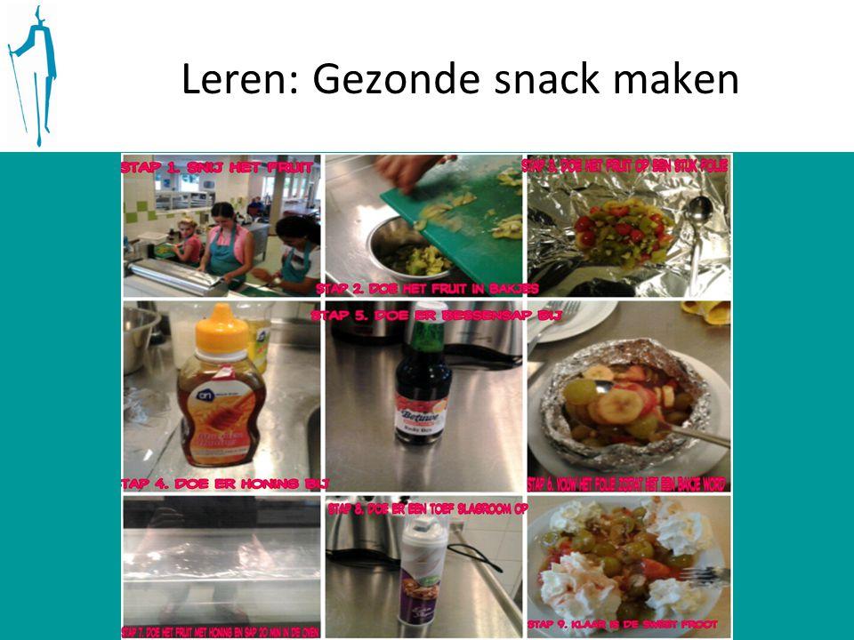 Leren: Gezonde snack maken