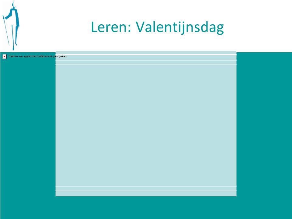Leren: Valentijnsdag