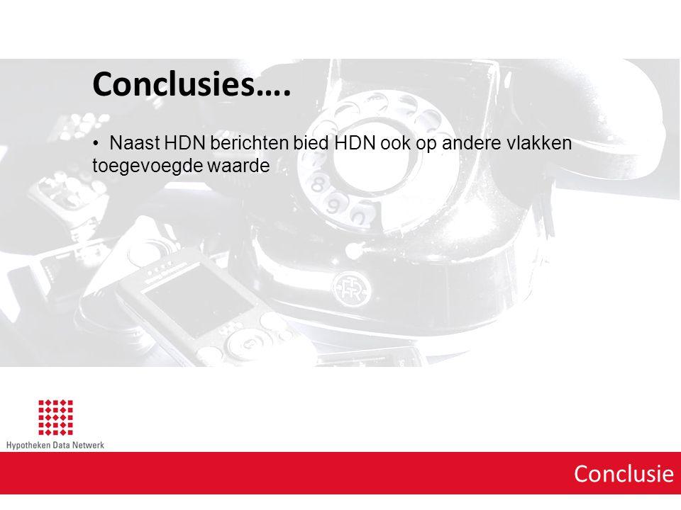 Conclusie Conclusies…. Naast HDN berichten bied HDN ook op andere vlakken toegevoegde waarde