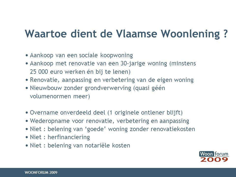 Waartoe dient de Vlaamse Woonlening .