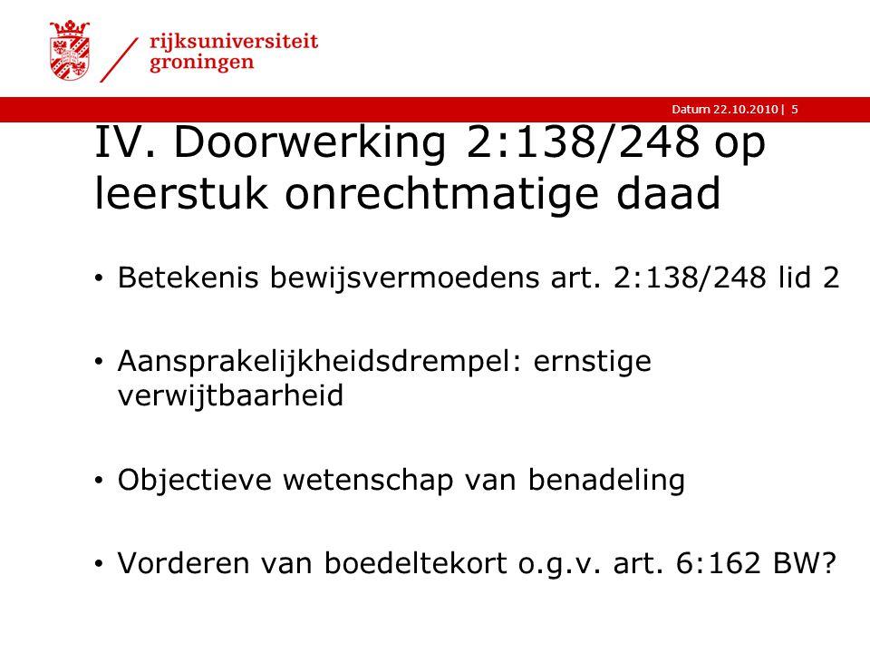  Datum 22.10.2010 V.Toekomst Voorontwerp Insolventiewet 2007: Beklamel-vordering  art.