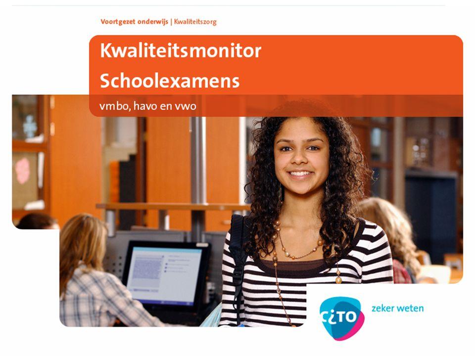De Kwaliteitsmonitor Schoolexamens Jan van Weerden