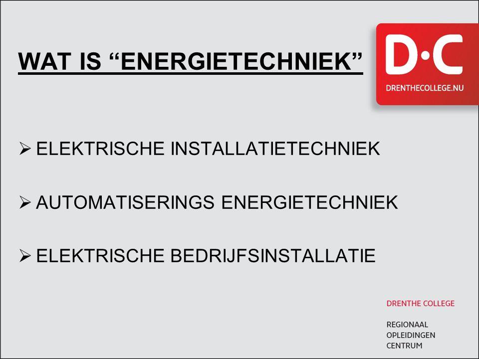 VAKKEN PAKKET 2 e jaar  Elektrische Installatietechniek  Energie Omzetting  Aandrijftechnieken  Vermogens Elektronica  Besturingstechniek  Tekenen  Projecten (Praktische vorming)  Bedrijfskunde