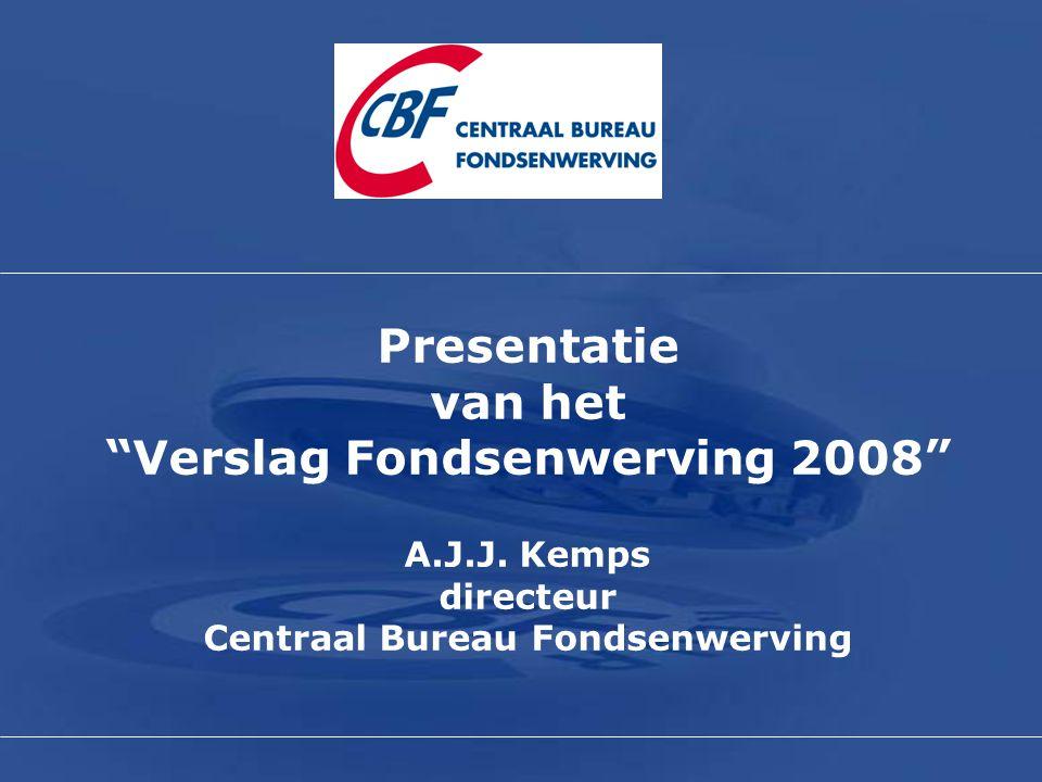 "Presentatie van het ""Verslag Fondsenwerving 2008"" A.J.J. Kemps directeur Centraal Bureau Fondsenwerving"