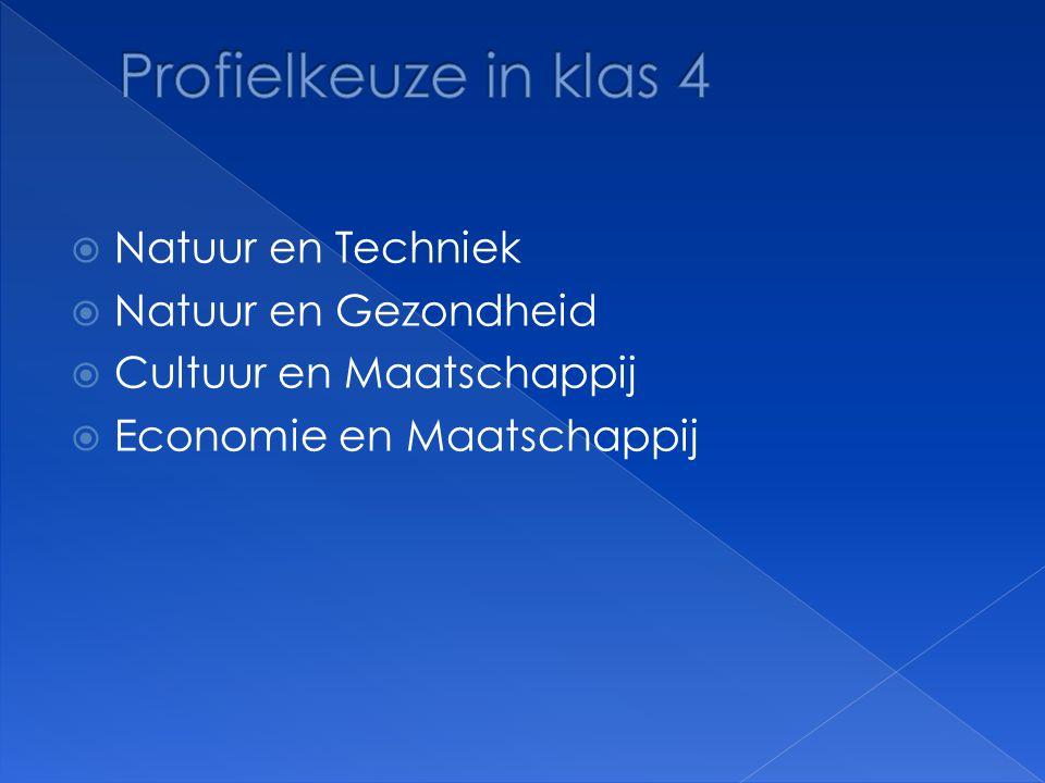  Gemeenschappelijk deel  Profielvakken / verplicht  Profielvak/ keuze  Vrije deelvak(ken)