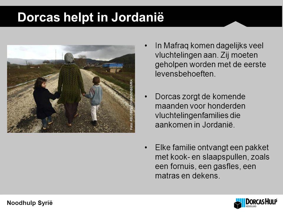 Noodhulp Syrië Dorcas helpt in Jordanië 6 In Mafraq komen dagelijks veel vluchtelingen aan.