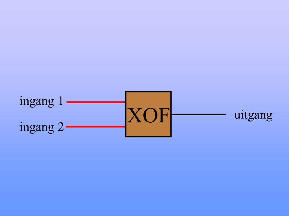 XOF ingang 1 uitgang ingang 2