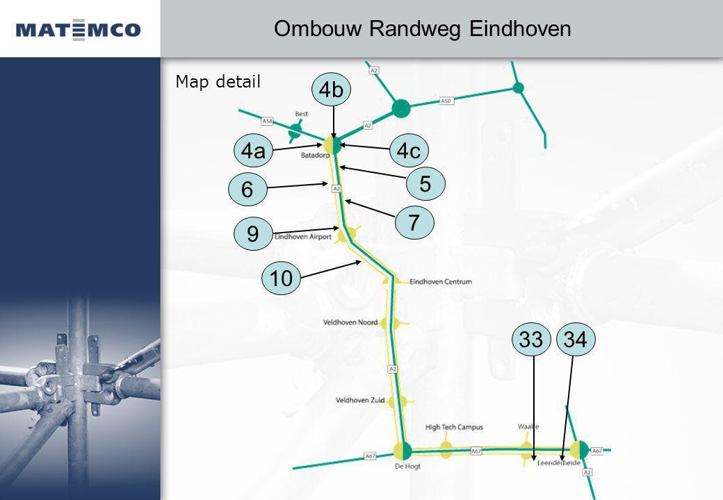 Ombouw Randweg Eindhoven Map detail 4a 5 6 4c 4b 10 7 9 3433