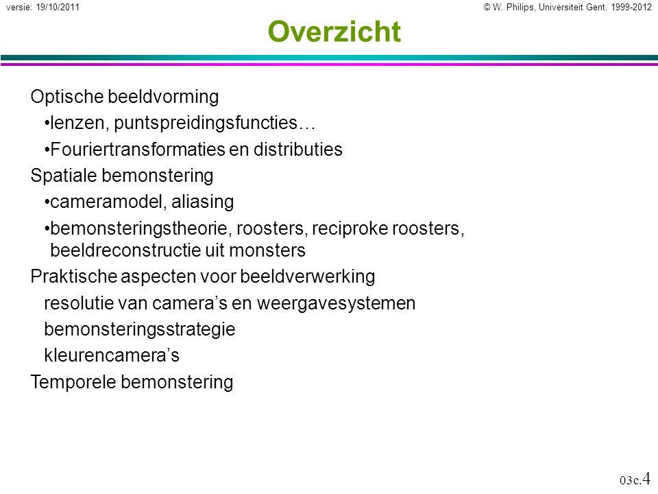 © W. Philips, Universiteit Gent, 1999-2012versie: 19/10/2011 03c.